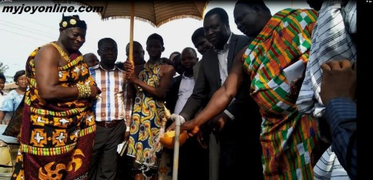 Chief Constructs Road, School, Water And Sanitation Facilities