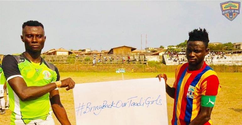 Hearts of Oak And Sekondi Hasaacas Join Campaign To Bring Back Kidnapped Takoradi Girls [PHOTOS]