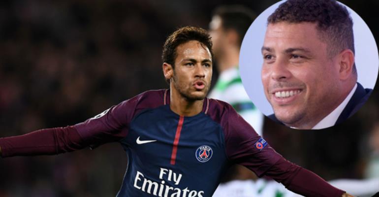 Neymar. INSET: Ronaldo
