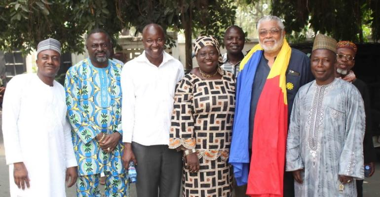 Late Alhaji Hearts' Family Call On Former Ghana Ppresident John Rawlings