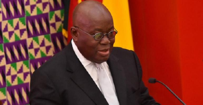 President Akufo-Addo during the last SONA
