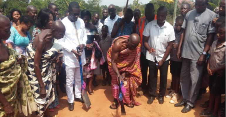 Bechem: Tano South MCE Cuts Sod For The Commencement Of Projects