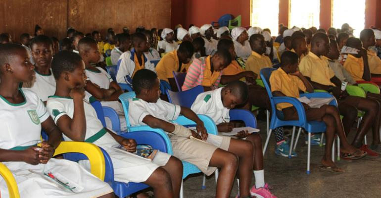 A section of the school children at the sensitization programme