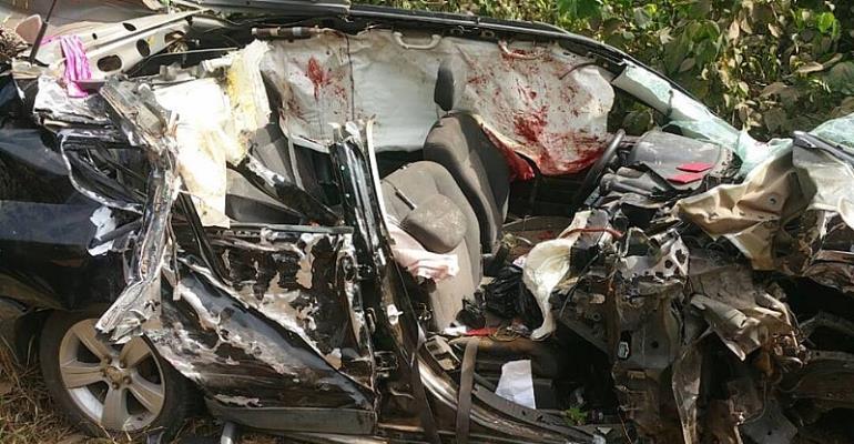 Ebony's Mangled Car In Fatal Crash