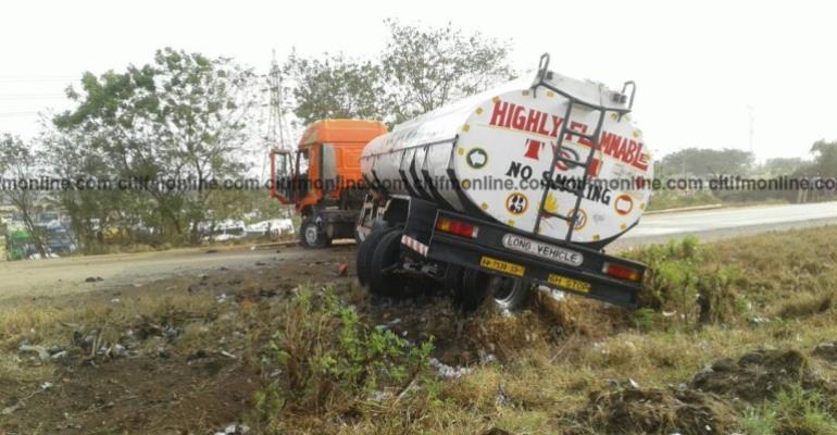 Fuel Tanker Blocked Part Of Tema Motorway