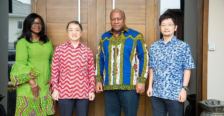 Japanese Ambassador to Ghana pays courtesy call on Mahama