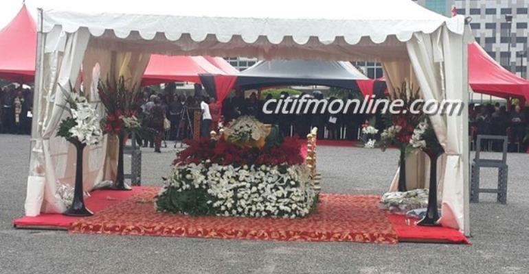 Mahama, Nana Addo, others at JB Danquah's funeral [Photos]