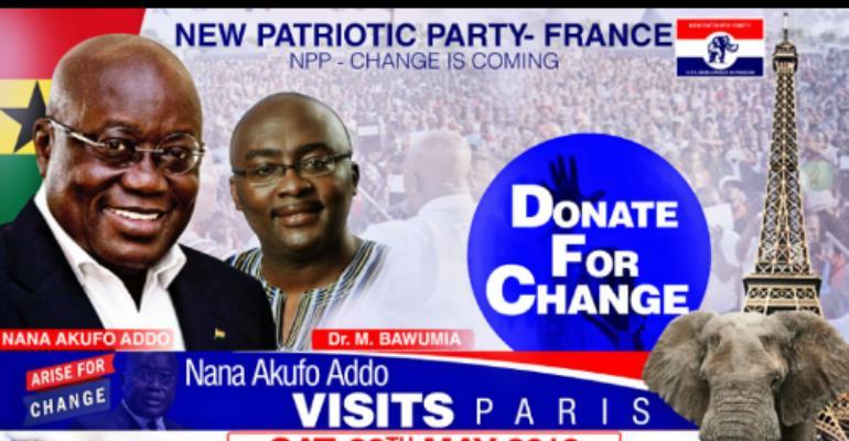 Nana Akufo - Addo  To Visit France