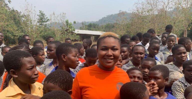 PHOTOS: Xandy Kamel Donates To Over 1,000 Students In Volta Region