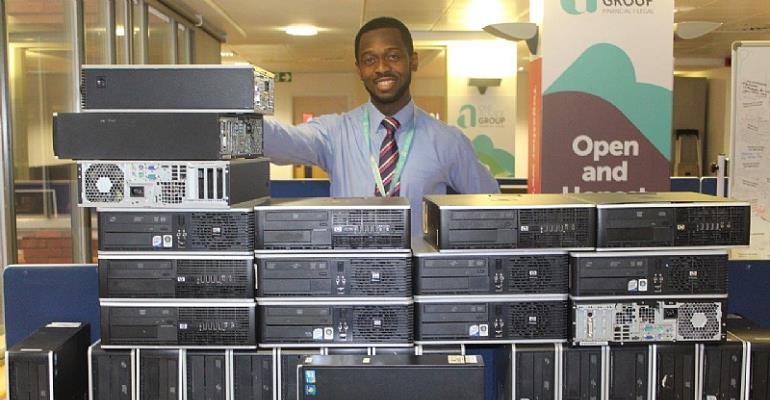 Harrington Brooks Financial Solutions Teams Up With Billy Yeboah To Provide Computers To Ghana