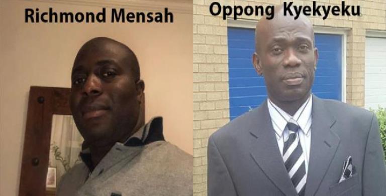 Richmond Mensah and Oppong  Kyekyeku