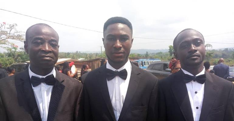 Clifford Frimpong, GSA Director of Testing (left) with some of his siblings