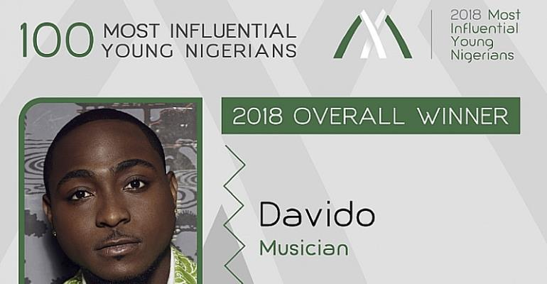 Davido Voted 2018 Most Influential Young Nigerian