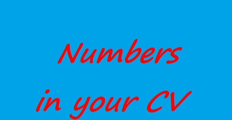 Numbers in your CV
