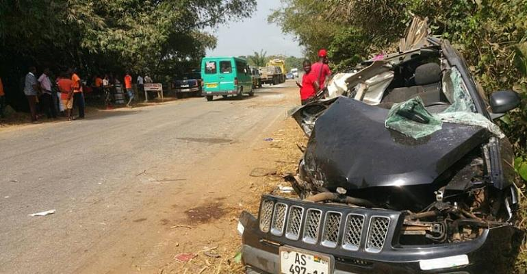 Residents Of Nyamebekyere Clear Heap Of Sand After Ebony's Fatal Crash