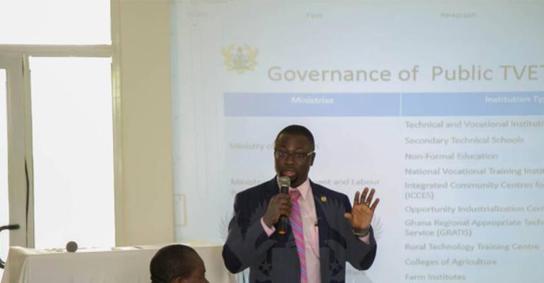 COTVET Chief addressing the workshop