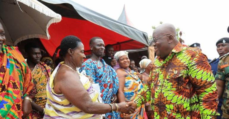 Flashback: President Akufo-Addo interacts with traditional rulers of Goaso.