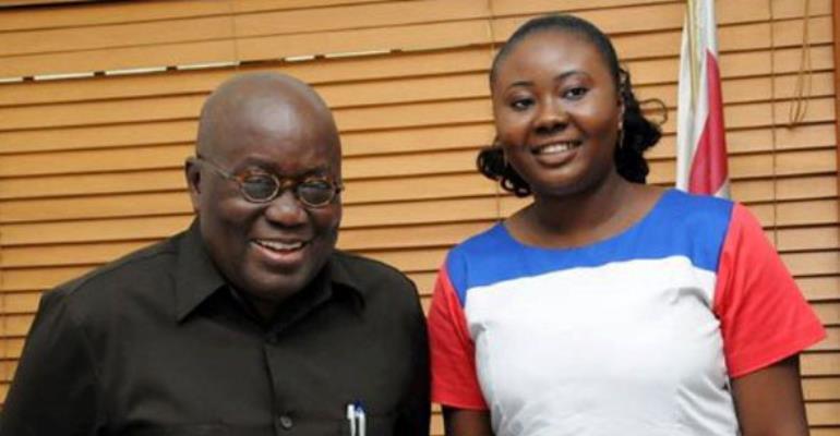 Francisca Oteng-Mensah with President Nana Akufo-Addo