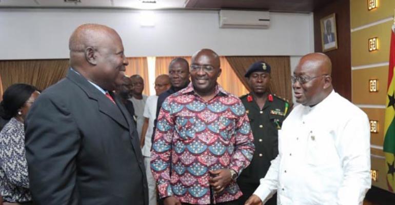 President Akufo-Addo, Vice President Bawumia and Martin Amidu