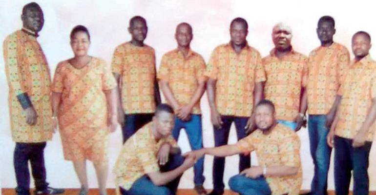 Christian Awuni (2nd left) and other members of the group