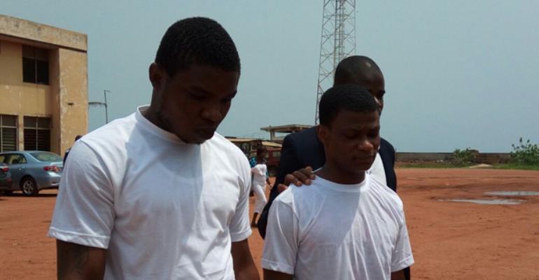 Daniel Asiedu (left)Vincent Bosso