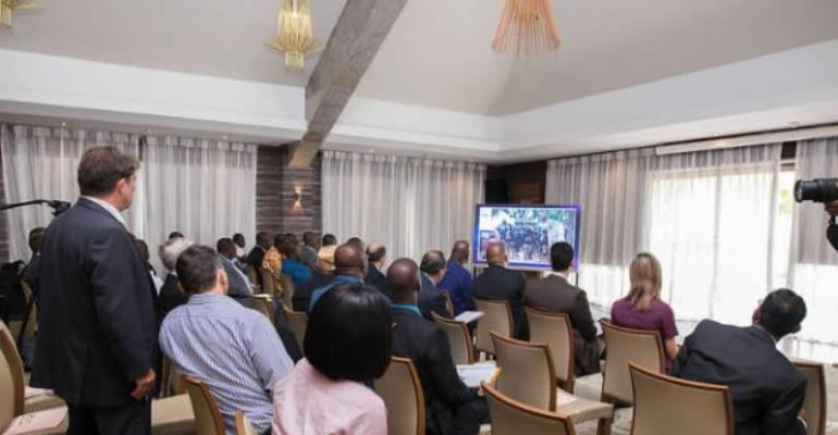 Mr Mahama meeting with diplomats to show them videos and photos