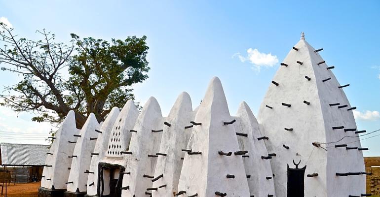 Picture : The Larabanga Mosque in Tamale