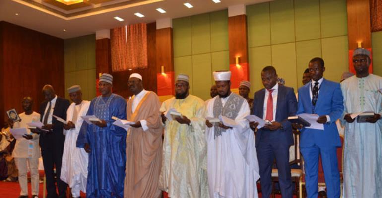 Members of the Hajj Board taking the oath of office