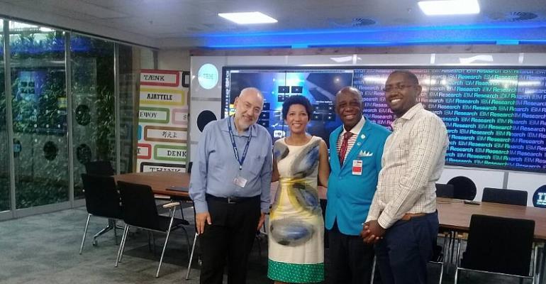 DR Thomas Mensah Visits IBM South Africa