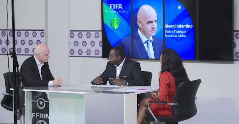 Gianni Infantino arrives in Lagos for CAF Football Awards