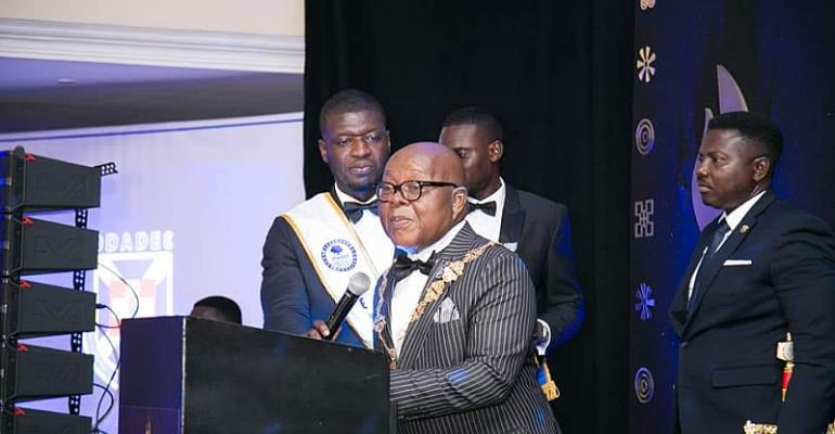 PRESEC Presents Grand Companion Award To Speaker Oquaye