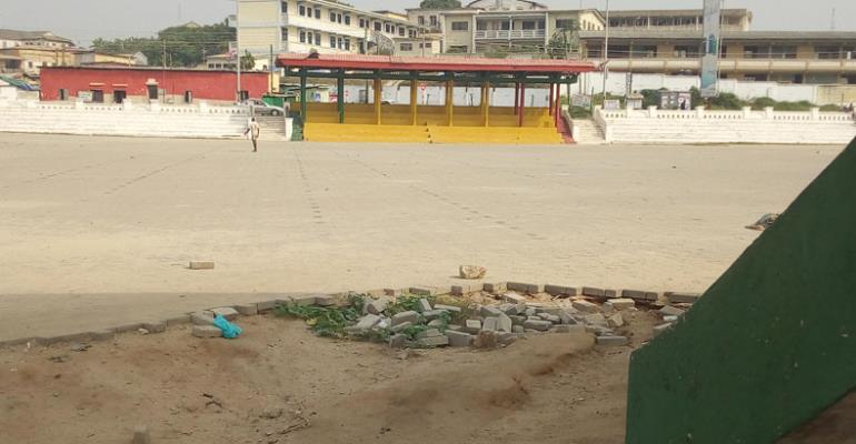 The deplorable state of the Cape Coast Jubilee Park.