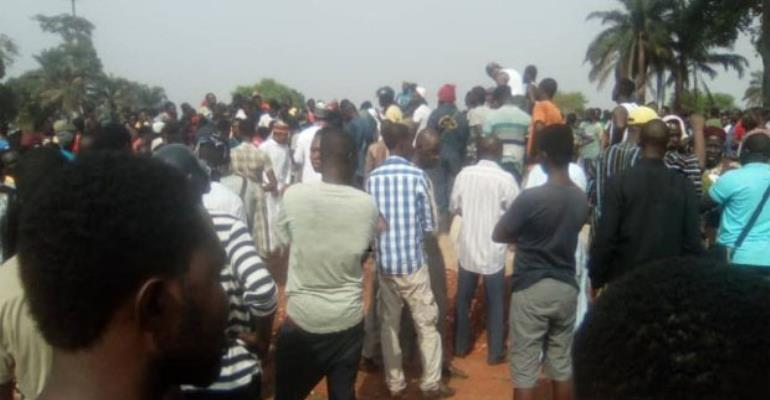 The Late Wasihu Iddrisu being laid to rest