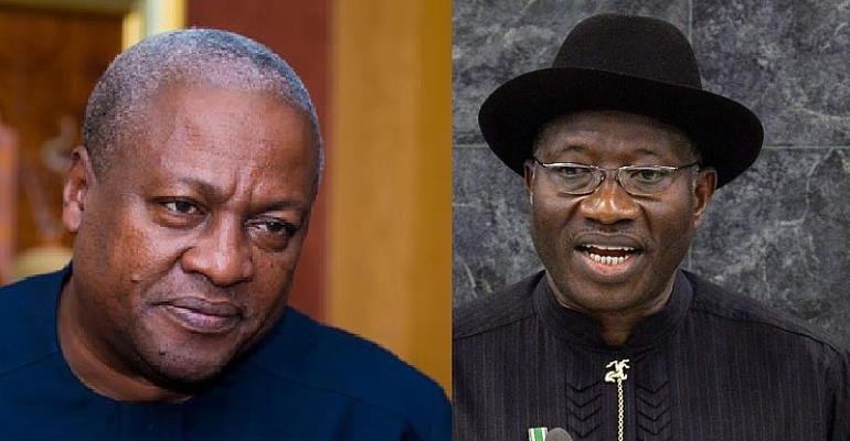 Former President John Mahama and Former President of Nigeria Goodluck Jonathan