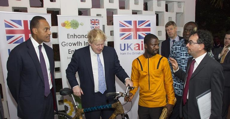 UK Foreign Secretary, Boris Johnson Commends Ghanaian Bamboo Bike Maker