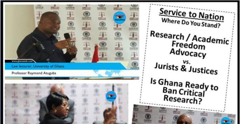 Defensive CJ Sophia Akuffo et al have no case vs. Professor Atuguba of UG (Legon)