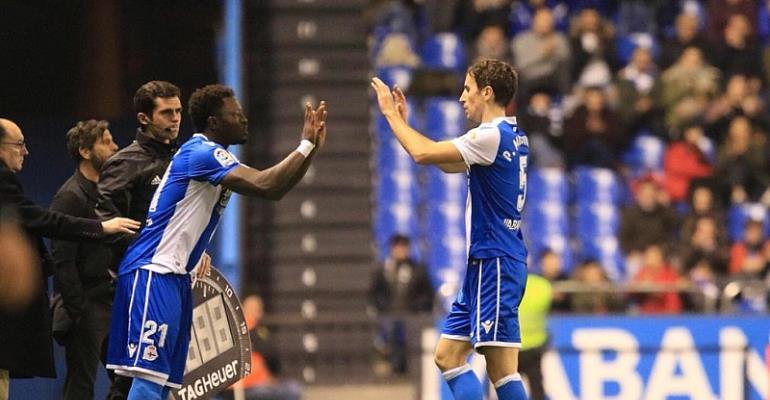 Sulley Muntari Makes Debut Appearance For La Liga Side Deportivo La Coruna