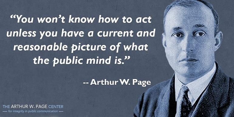 2 Principles Of Public Relations By Arthur Page For Business Sucess