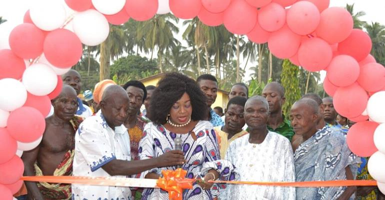 MP Commissions Three Community Centres; Cuts Sod For Another Three