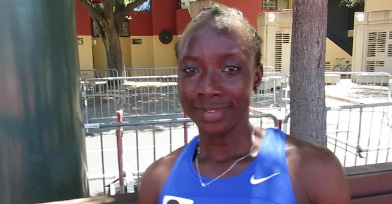Agnes Abu Obliterates 14-Year-Old 800m Indoor National Record