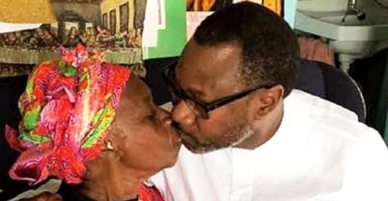 Femi Otedola's Kiss That Is Raising Eyebrows