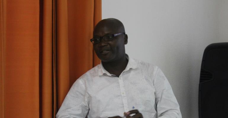 Samuel Kojo Antobam speaking at the workshop
