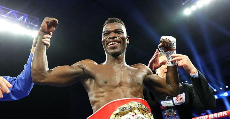 Ghana's Richard Commey Beat Isa Chaniev To Wins IBF World Title After 2nd Rnd TKO
