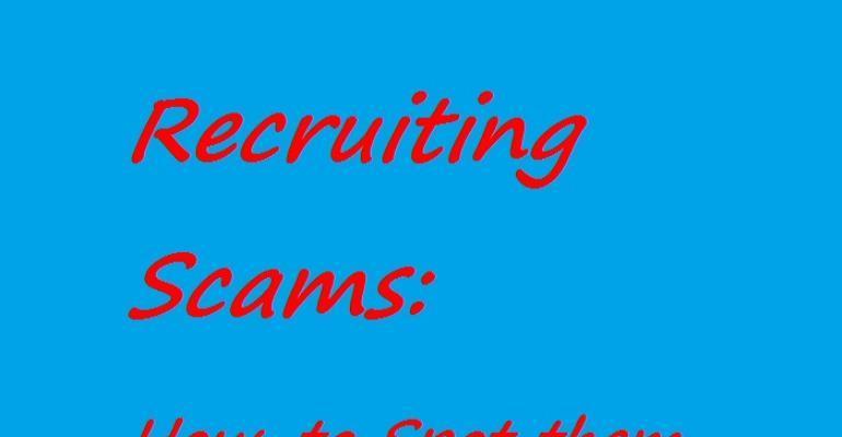 Recruitment Scams: a2018 Update