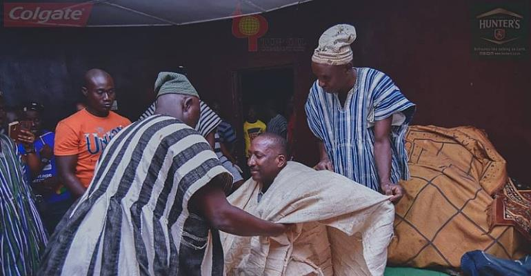 Citi FM CEO enskinned sub chief in Tamale [Photos]