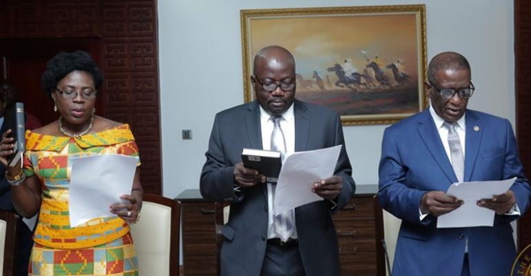Akufo-Addo Swears In Three Envoys