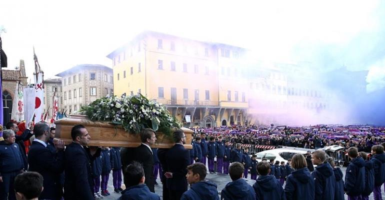 PHOTOS... Thousands Gather For Funeral of Fiorentina Captain Davide Astori