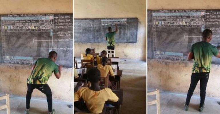 Man Goes Viral After Teaching Computing Without Computers In Ghana