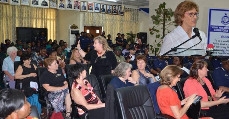 International Association Of Women Police Visits Ghana Police