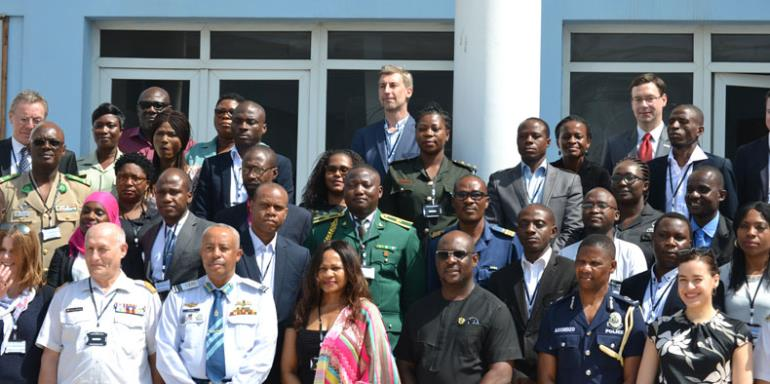 A group photo of dignitaries and participants